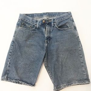 wrangler womens long shorts size 30 relaxed fit